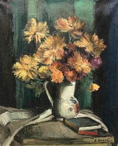 Vase and book