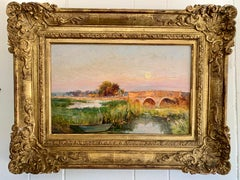 English Impressionist early 20th century River landscape, on the Arun River UK