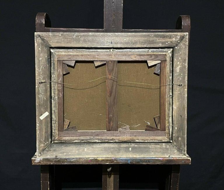 ERNEST WALBOURN (1872-1927) SIGNED ENGLISH OIL FIGURES RIVER LANDSCAPE SUNSET For Sale 6