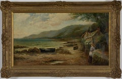 Waiting for the Boats by ERNEST WALBOURN, RBA - 19th century landscape painting