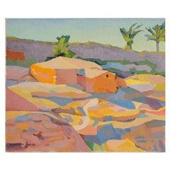 "Ernest Yarrow-Jones 'British', ""Orange House"" Painting"