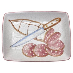 Ernestine of Salerno, Italian Majolica Serving Platter