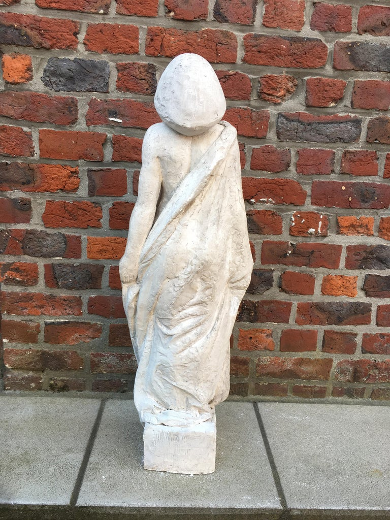 Ernestine Sirine-Real, Large Art Deco Statue in Plaster, circa 1925 In Good Condition For Sale In Saint-Ouen, FR