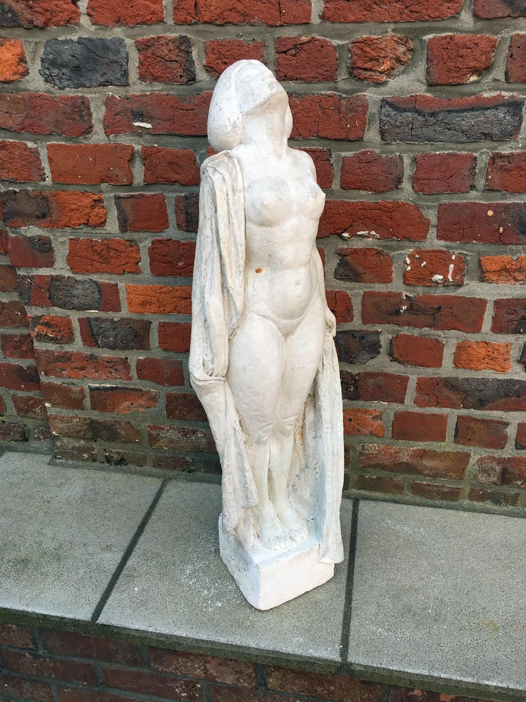 Ernestine Sirine-Real, Large Art Deco Statue in Plaster, circa 1925 For Sale 1
