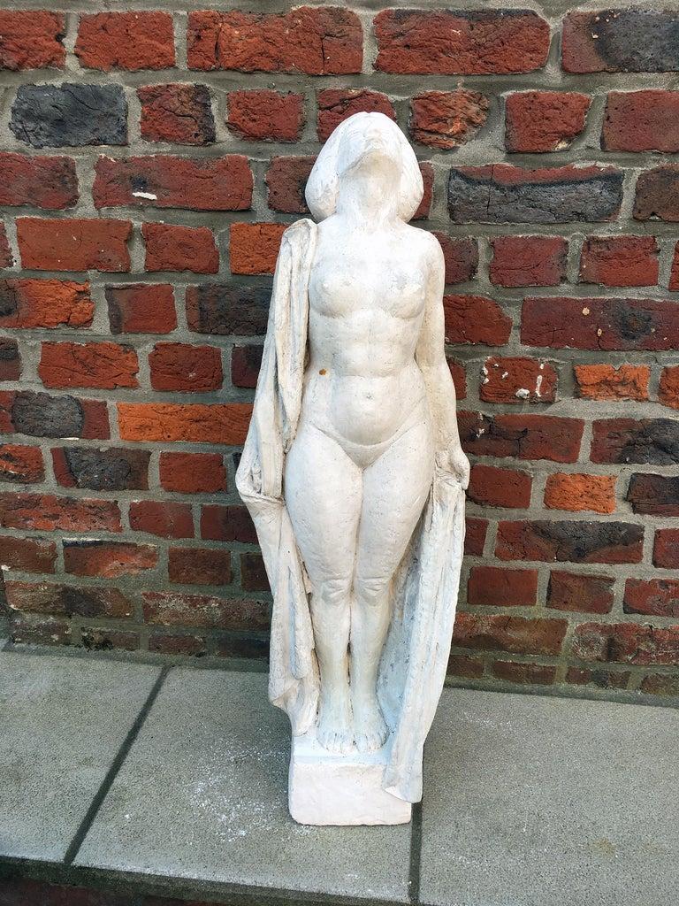 Ernestine Sirine-Real, Large Art Deco Statue in Plaster, circa 1925 For Sale 2