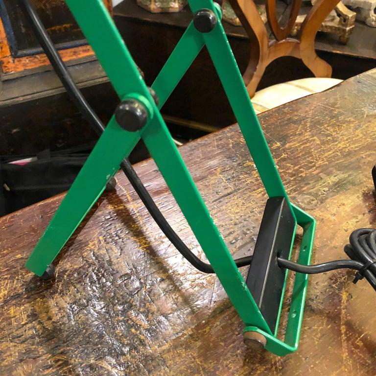 Modern Ernesto Gismondi for Artemide Green Adjustable Table Lamp, 1976