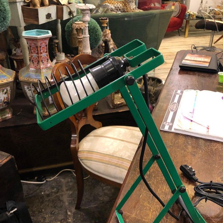 Italian Ernesto Gismondi for Artemide Green Adjustable Table Lamp, 1976