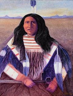 """Kicking Bear, Dakota,"" Oil on Canvas signed by Ernesto Gutierrez"