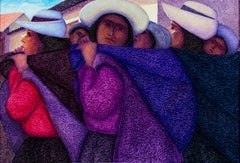 """Tres Madres,"" Original Oil Painting on Canvas signed by Ernesto Gutierrez"