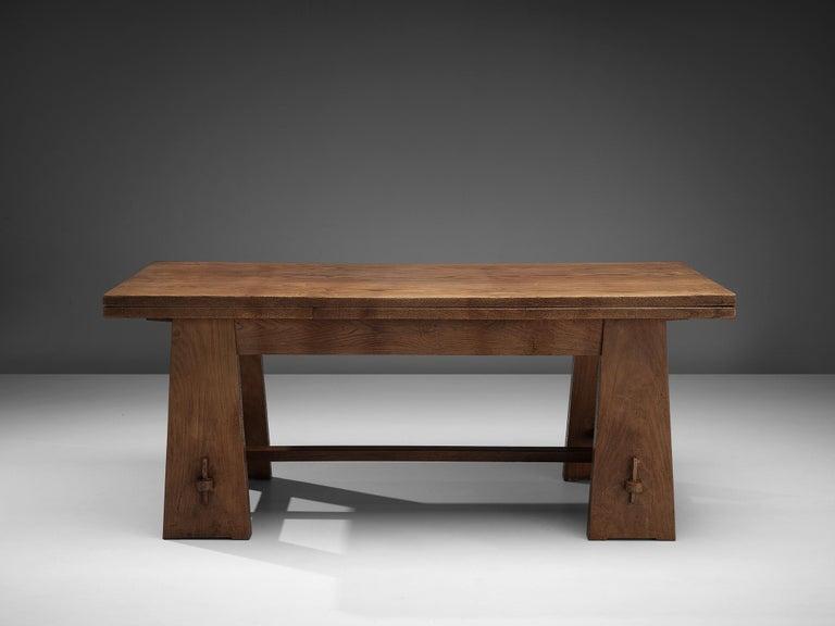 Ernesto Valabrega Extendable Dining Table in Oak 3
