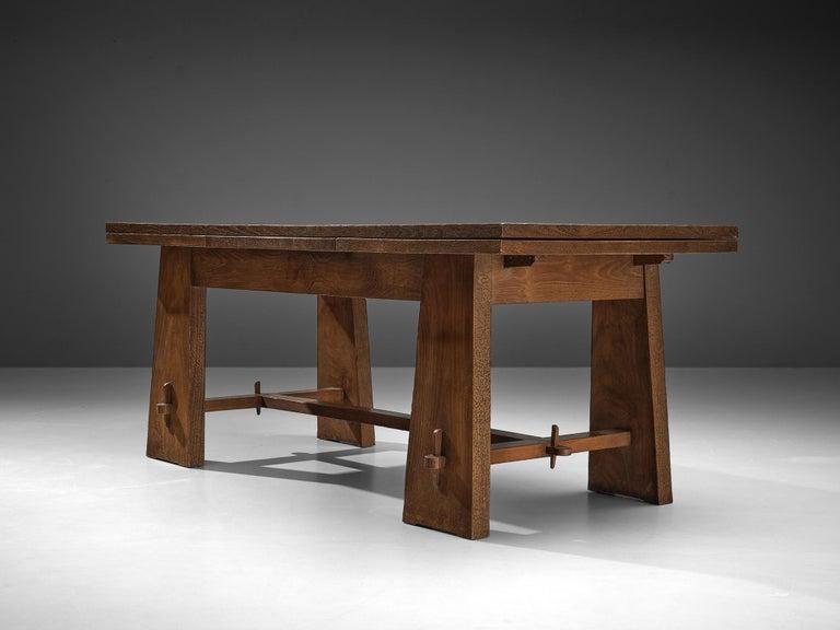Ernesto Valabrega Extendable Dining Table in Oak 4