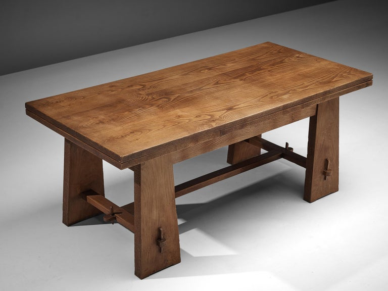 Ernesto Valabrega Extendable Dining Table in Oak 5