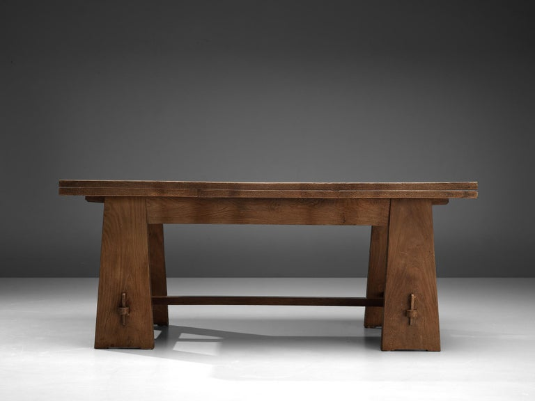 Ernesto Valabrega Extendable Dining Table in Oak 6