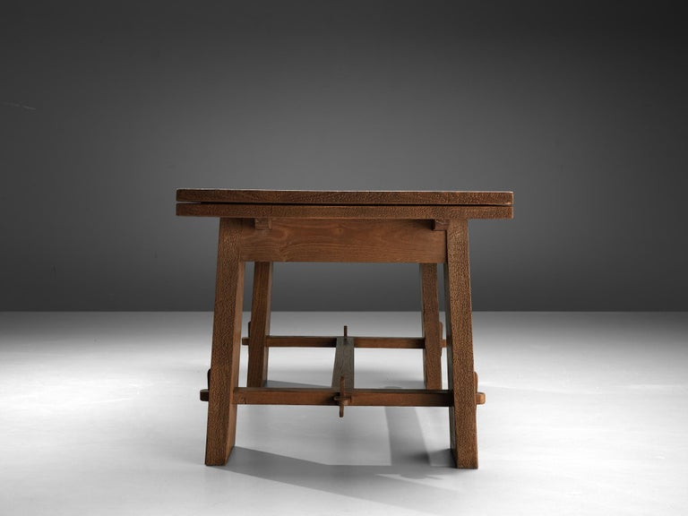 Ernesto Valabrega Extendable Dining Table in Oak 7
