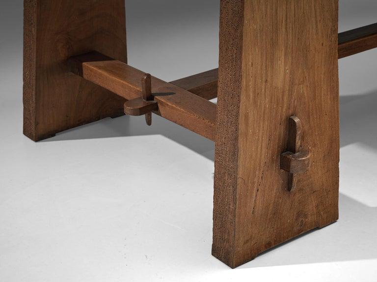 Mid-20th Century Ernesto Valabrega Extendable Dining Table in Oak