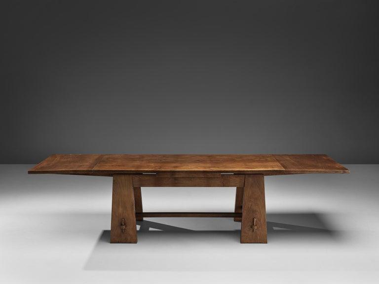 Ernesto Valabrega Extendable Dining Table in Oak 1
