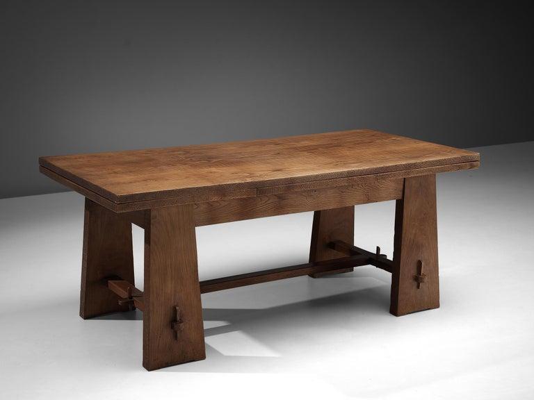 Ernesto Valabrega Extendable Dining Table in Oak 2