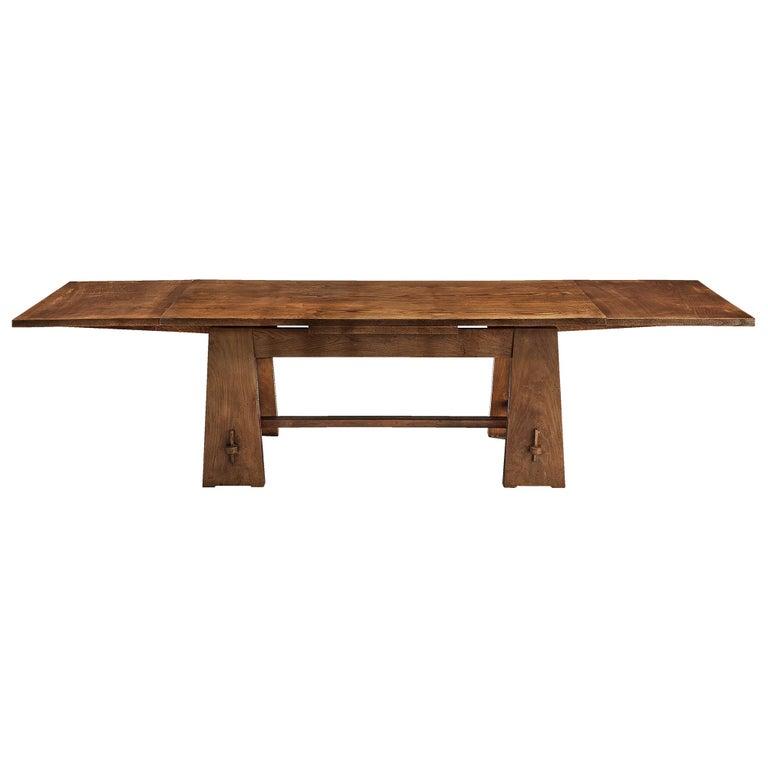Ernesto Valabrega Extendable Dining Table in Oak
