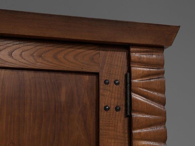 Art Deco Ernesto Valabrega Large Wardrobe in Oak For Sale