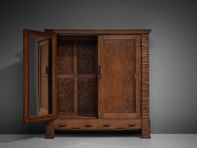 Mid-20th Century Ernesto Valabrega Large Wardrobe in Oak For Sale