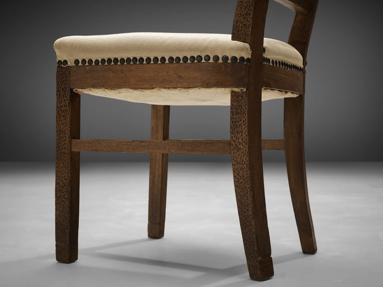 Ernesto Valabrega Set of Eight Dining Chairs in Oak For Sale 3