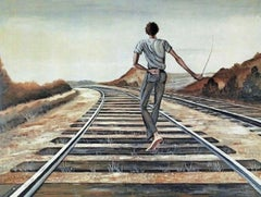 Destination Unknown, Limited Edition Lithograph, Ernie Barnes