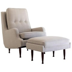 Erno Fabry Attributed Lounge Chair and Ottoman