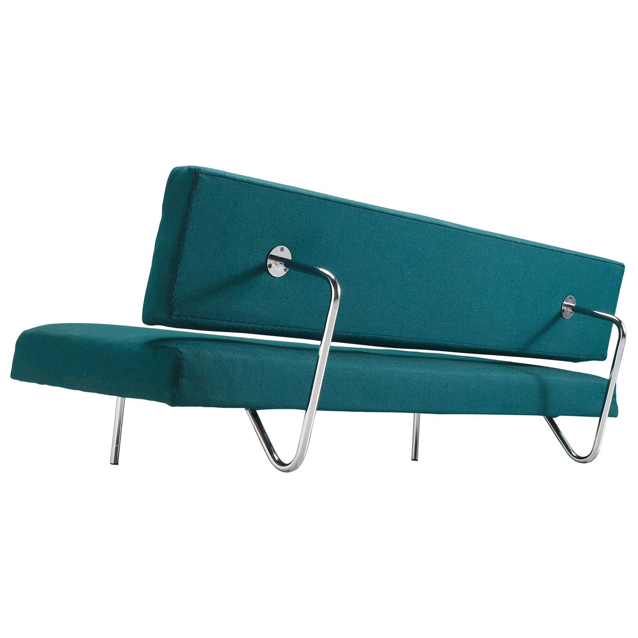 Ernst Ambühler for Teo Jacob Sofa EA-616 in Fabric Upholstery and Steel
