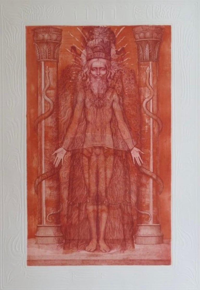 Kabbalah (32 PATHS OF WISDOM with 36 illustrations by Ernst Fuchs) For Sale 1