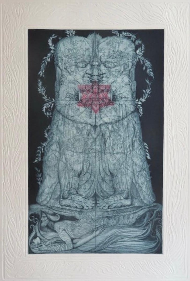 Kabbalah (32 PATHS OF WISDOM with 36 illustrations by Ernst Fuchs) For Sale 2