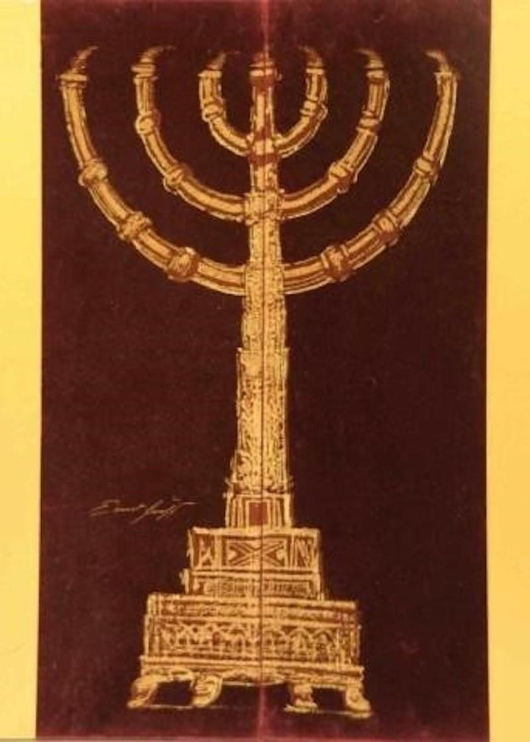 Kabbalah Gravures (THIRTY-TWO PATHS OF WISDOM by SEFER YETZIRA with 36 illustrations by ERNST FUCHS), 1975 14 original engravings (etched engraving, etching-needle, soft varnish, burin), inset plates numbered and signed by the artist, 7 of them in a