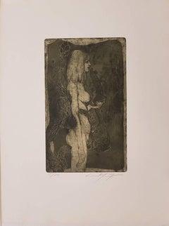 The Nymph Eva - Original Etching by E. Fuchs - 1968