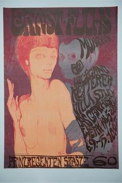 Ernst Fuchs - The unequal couple - 1967 Vienna School of Fantastic Realism