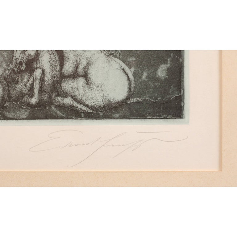 Mid-20th Century Ernst Fuchs 'under the Snow Lilith' Print, 1969 For Sale