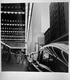 Car Reflecting Theatre Bulbs, New York by Master of 20th Century Photography