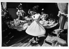 Dancing Girls, Black and White Portrait Photograph of Children in Sevilla, Spain