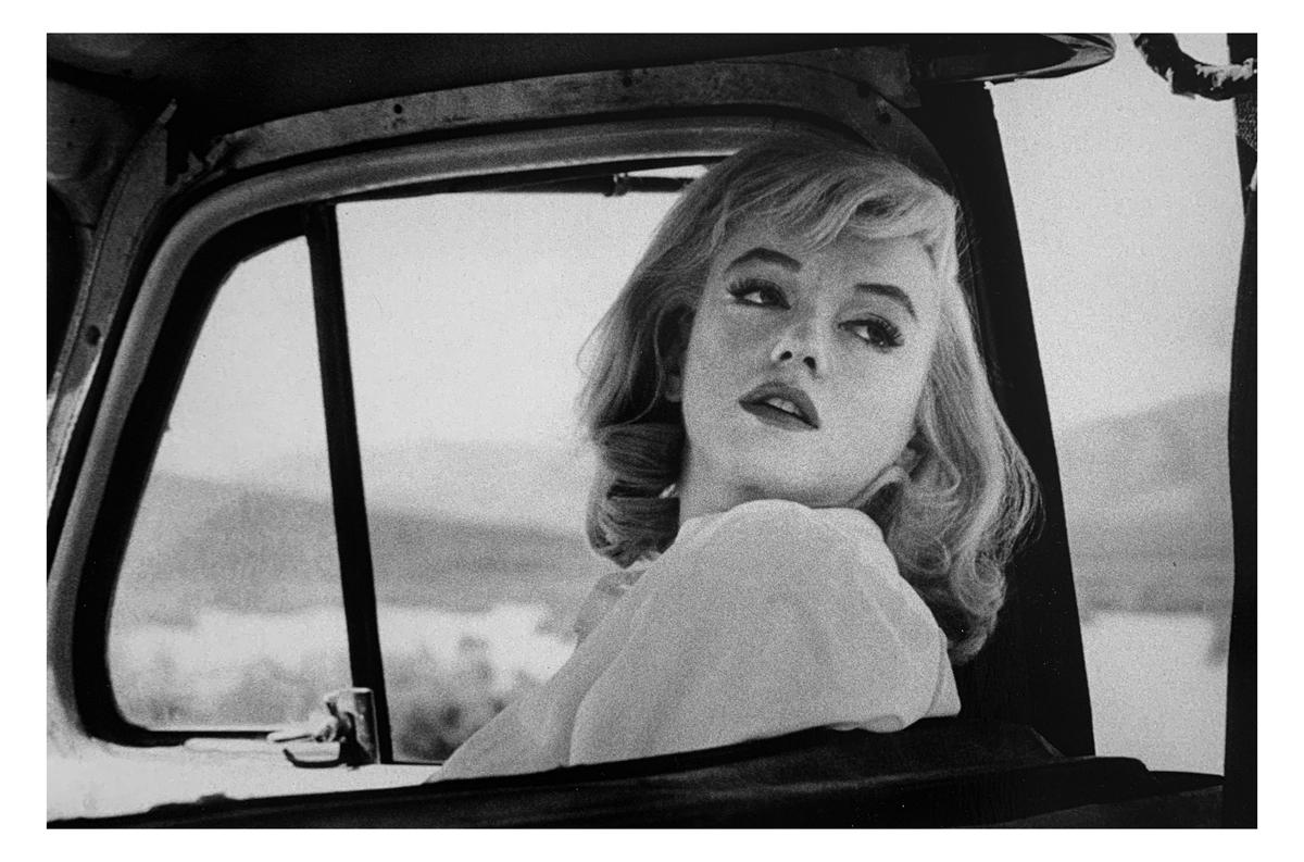 Marilyn Monroe Looking Back, Black and White Photography of Hollywood Star 1960s