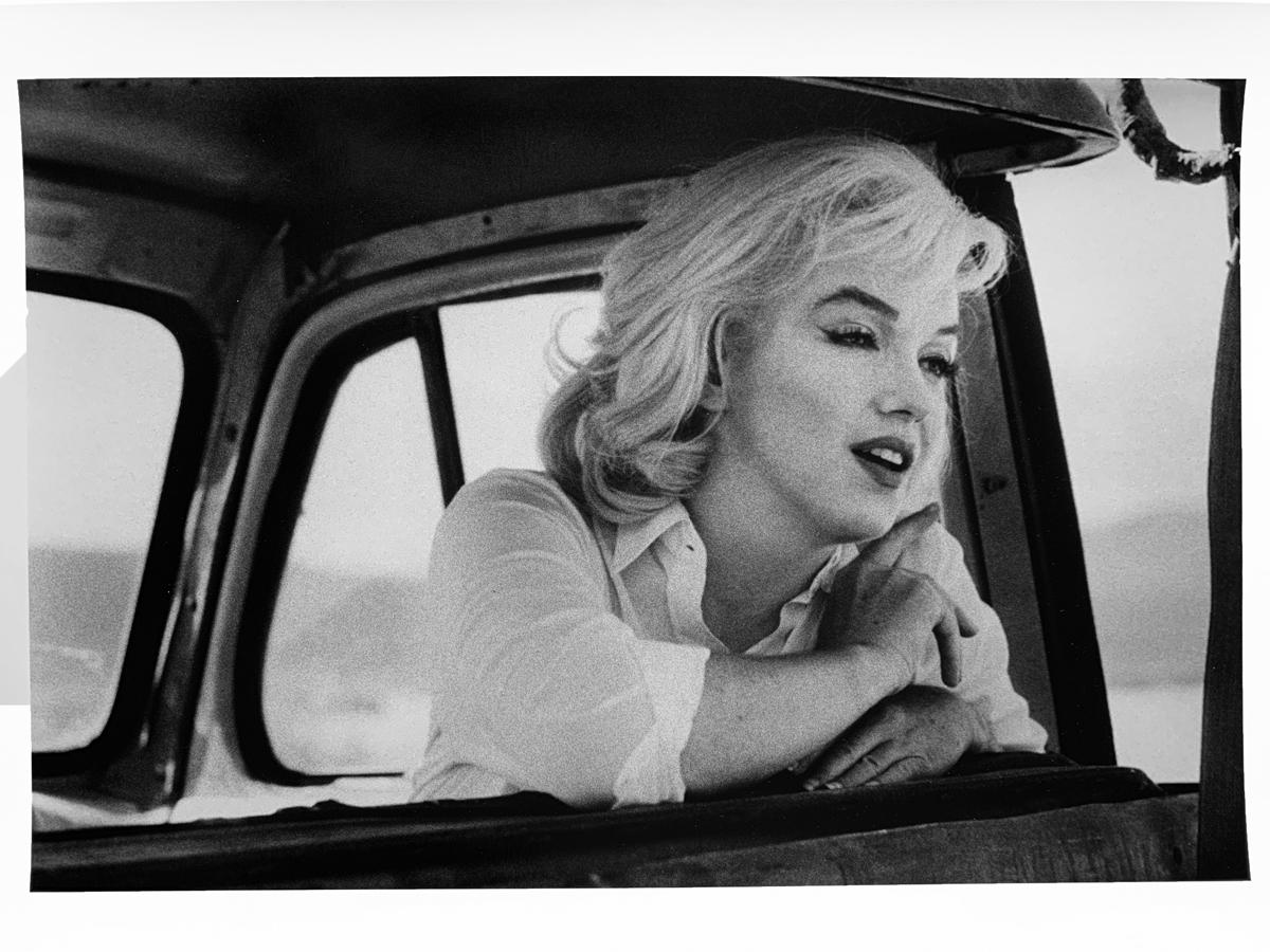 Marilyn Monroe Looking Forward, Black and White Photography Hollywood Star 1960s