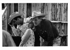Marilyn Monroe with Clark Gable and Montgomery Clift by Ernst Haas