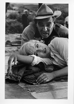 Marilyn Monroe with Clark Gable by Ernst Haas, gelatin silver print