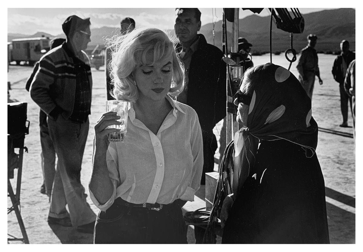 Marilyn Monroe with Paula Strasberg, Hollywood Star Photography 1960s