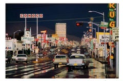 Route 66, Albuquerque, New Mexico by Ernst Haas, Chromogenic color photography