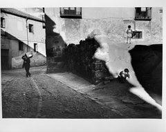 Street Shadow Avila Spain, European Black and White Figurative Photography 1950s