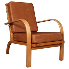 Ernst Heilmann Sevaldsen for Fritz Hansen Rare Lounge Chair from the 1930s