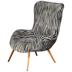 Ernst Jahn 1950s Wingback Lounge Chair