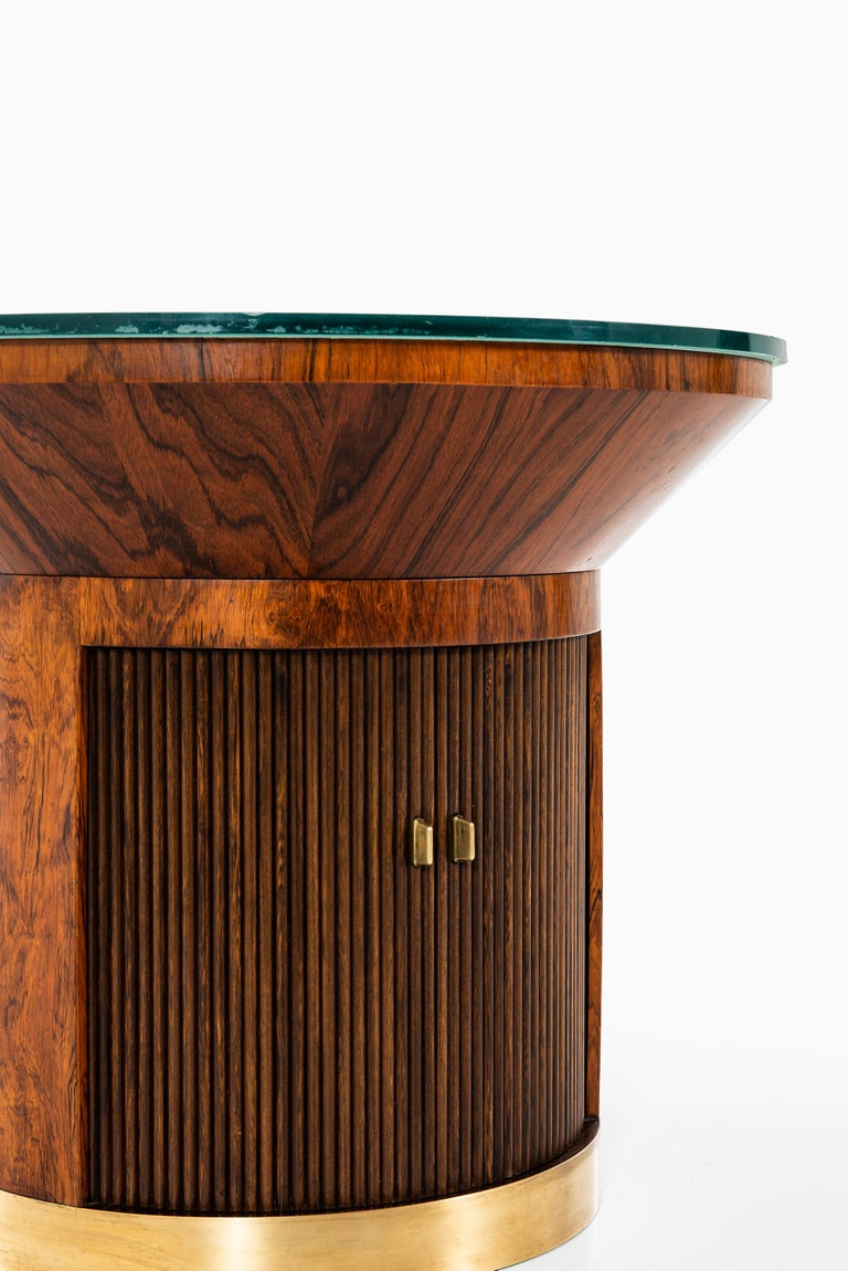 Ernst Kühn Coffee Table / Bar Cabinet by Lysberg Hansen & Therp in Denmark In Good Condition For Sale In Malmo, SE
