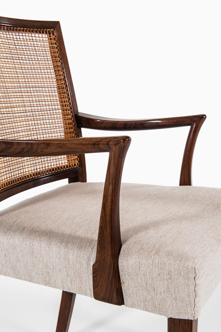 Ernst Kühn Dining Chairs Produced by Lysberg Hansen & Therp in Denmark For Sale 4