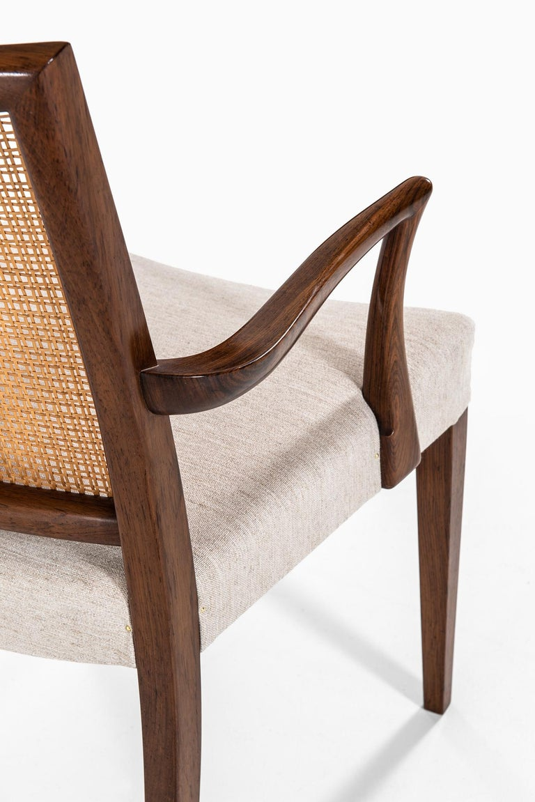 Ernst Kühn Dining Chairs Produced by Lysberg Hansen & Therp in Denmark For Sale 5