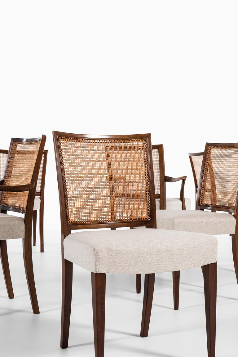 Ernst Kühn Dining Chairs Produced by Lysberg Hansen & Therp in Denmark In Good Condition For Sale In Malmo, SE
