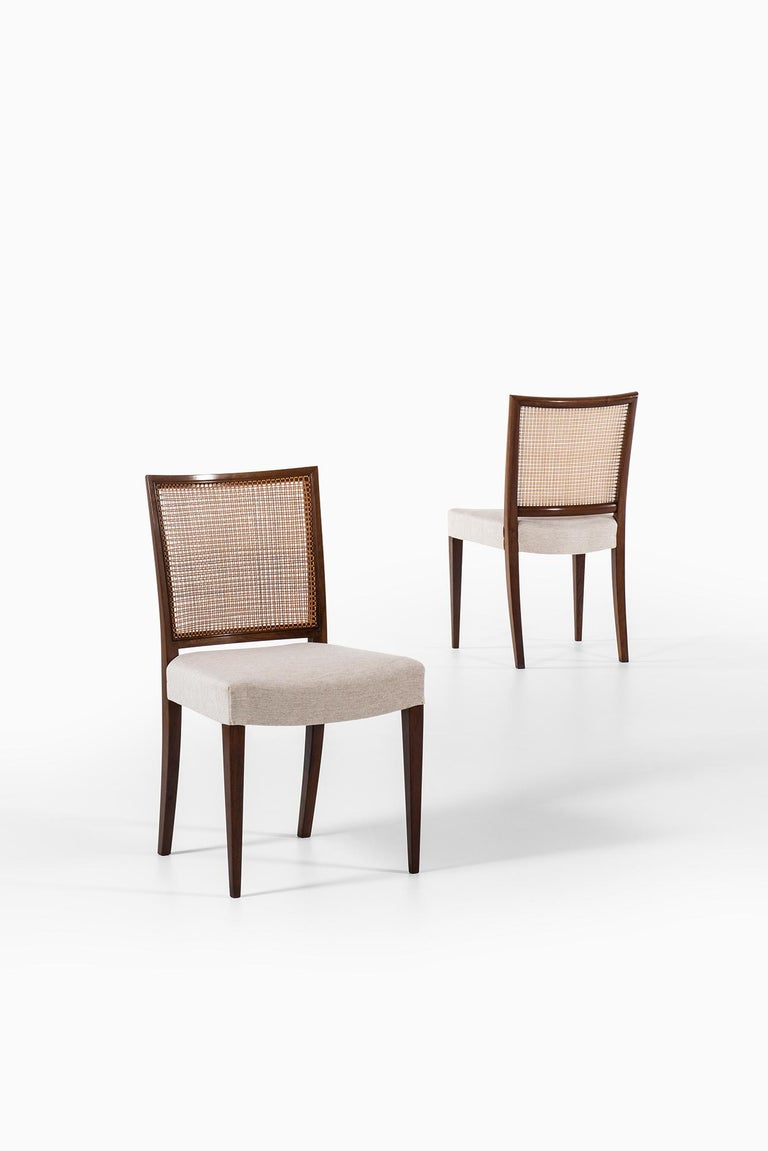 Mid-20th Century Ernst Kühn Dining Chairs Produced by Lysberg Hansen & Therp in Denmark For Sale